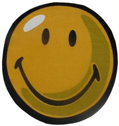 Fun Rugs SW-10 39RD Smiley World Collection Smiley Round Yellow - 39RD in.