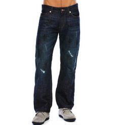 J65- Dark Crinkle Resin Coated Jean