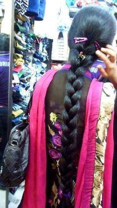 Long Silky Hair, Long Black Hair, Super Long Hair, Long Bob Hairstyles, Indian Hairstyles, Braided Hairstyles, Indian Long Hair Braid, Braid Hair, Big Bun