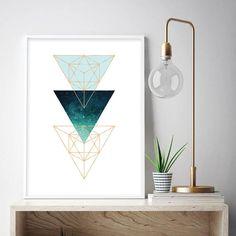 Downloadable Scandinavian Printable Art Scandi Geometric | Etsy Printing Services, Online Printing, Printable Art, Printables, Floral Pattern Vector, Green Copper, Minimalist Poster, Modern Wall Art, Scandinavian
