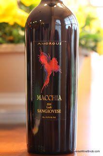 Macchia Amorous Sangiovese 2011 - Lovely!