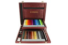 Pastellkreidestift STABILO CarbOthello Holzkofer Mit 60 Verschiedenen Farbe Art et antiquités Pastel Pencils, Colored Pencils, Wooden Case, Wooden Boxes, Chalk Pencil, Sisters Art, White Pencil, Pencil Boxes, Chalk Pastels