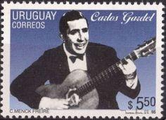 Las estampillas dedicadas a Carlos Gardel, el Rey de Tango Argentino - King of Argentine Tango