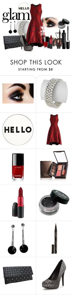 """Hello GLAM"" by shoppe23 on Polyvore featuring beauty, Lisa Perry, Chicwish, Naeem Khan, Chanel, Laura Mercier, MAC Cosmetics, Smith & Cult, Marc Jacobs and partystyle"