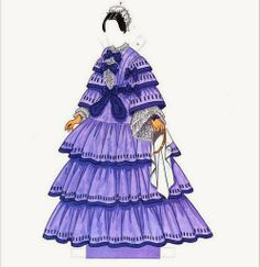 Fashions of the Old South  Paper Dolls by Tom Tierney - Dover Publications, Inc.,1989: Plate 4 (of 16)
