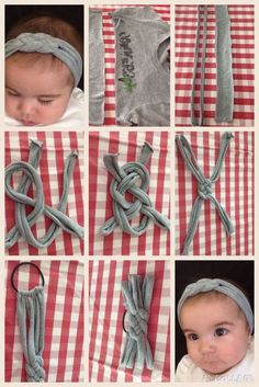 Comment Faire Headband- Tuto et Idées Hair Knot Tutorial, Baby Headband Tutorial, Diy Baby Headbands, How To Make Headbands, Diy Hair Bows, Baby Bows, Sewing Headbands, Crochet Headbands, Turban Headbands