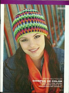 """"""" MOSSITA BELLA PATRONES Y GRÁFICOS CROCHET """": Gorro colorido a crochet! Sombrero A Crochet, Crochet Baby Hats, Crochet Beanie, Crochet Hooks, Free Crochet, Knitted Hats, Crochet Gratis, Crochet Cardigan Pattern, Granny Square Crochet Pattern"""