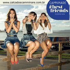 Divirta-se com as sapatilhas super #fashion da Camminare! ❤️  #moda #conforto #camminare #shoes #love #tendência #bestfriends #itgirls