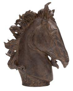 Antique Horse Head Statue