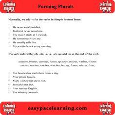 Forming plurals.