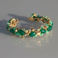Green Onyx, Chrysoprase, Green Amethyst & 14K gold filled Bracelet