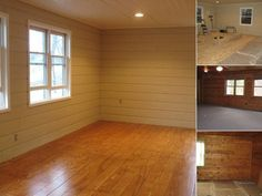These people made a beautiful floor out of plywood sheets for about $1 per sq. ft. I'll be glad I pinned this one day! :)
