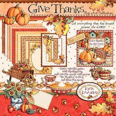 Lovely for Thanksgiving. Clip art by Karla Dornacher.