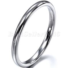 2mm Damen Herren Wolframcarbid Ring Partnerringe Trauringe Eheringe Hochpoliert