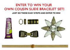 Subscribe onto my blog and enter to win your own DIY Slider bracelet set!