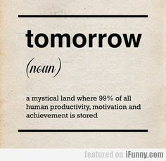 Tomorrow (noun)