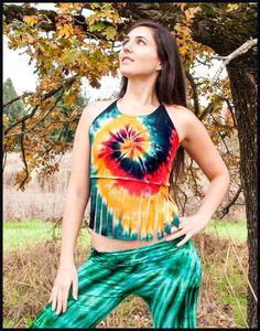 Tie-dye Halter with Fringe - Cali Kind Clothing Co.