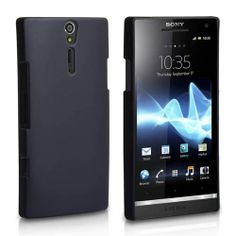 Nice and slim design very high quality black Chromatic Color Hard Case for Sony Xperia S to protect your phone from scratches and damage.