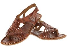 CowboyPros Men's Women's Kid's Belts Sandals Sale womens 233 strappy style all real leather brown huarache sandal ankle strap 34.95 Condition: Brand New in Original Box Material: 100% Real Leather Color: Chedron / Brown Description: Hand...