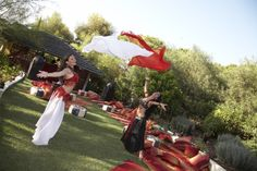 #Bellydancers in outside chill out area with large Moroccan floor cushions and throws #moroccanparty http://www.collection26.com/events/services/private-events/
