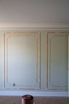 One Room Challenge: Week Gracefully Challenged - The Makerista Wall Trim, Trim On Walls, Panel Walls, Wall Molding, Moldings, Picture Frame Molding, French Walls, Decorative Mouldings, Wall Treatments
