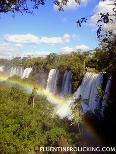 Iguazu Falls  Border between Argentina & Brazil