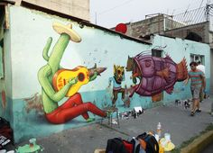 Saner x Sego x AEC Interesni Kazki New Mural In Mexico City StreetArtNews
