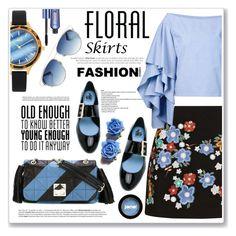 """summer floral skirts"" by nanawidia ❤ liked on Polyvore featuring Topshop, Jag, Sonia Rykiel, Benefit, Lanvin, Rosie Assoulin, Christian Dior, Avenue, jane and Tarina Tarantino"
