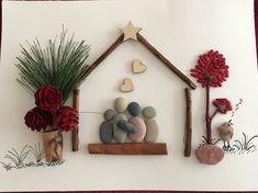 Happy family #stone #pebbleart#tree and bird #love