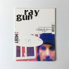 Unpublished Ray Gun Magazine Cover on Foam Board. Designed in mid-late on the kitchen table of my Mum and Dad's… Magazine Page Layouts, David Carson, Graphic Art, Graphic Design, Editorial Design, Layout Design, Guns, Branding, Feelings