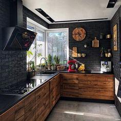 9 best black kitchens kitchen trends you need to see 3 « Kitchen Design Kitchen Room Design, Modern Kitchen Design, Home Decor Kitchen, Rustic Kitchen, Interior Design Kitchen, Decorating Kitchen, Kitchen Ideas, Kitchen Trends, Loft Kitchen