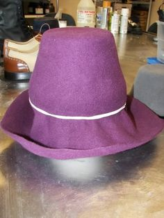 flowerpot as hat block Hat Blocks, Millinery Hats, Fedora Hat, Felt, Modern, Fashion, Moda, Felting, Trendy Tree