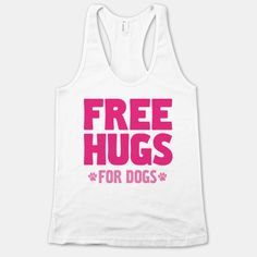 Hug a pug or pet a puppy with this funny free hugs shirt