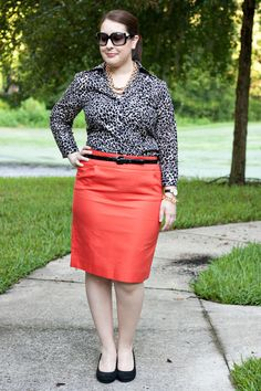 Leopard Shirt Orange Skirt