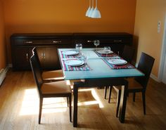 Page 1 of 1 from 3 Hotels Near Dinette, Nantes Orange Dining Room, Dining Room Colors, Dining Room Furniture, Dining Room Table, Dining Chairs, Room Color Design, Dining Area Design, Inspiration, Wedding Gifts