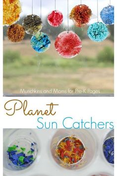 A great craft project to go with your outer space theme in Preschool or Kindergarten! - Pre-K PagesPlanet Sun Catchers. A great craft project to go with your outer space theme in Preschool or Kindergarten! - Pre-K Pages Planets Preschool, Planets Activities, Space Theme Preschool, Space Activities For Kids, Preschool Crafts, Outer Space Crafts For Kids, Cd Crafts, Summer Preschool Themes, Solar System Activities