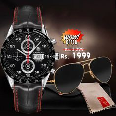 9f09104a038 Buy WOW Offer - TAG Heuir Mens Watch + Rayban Sunglasses online in Pakistan