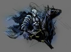 Famine by sReinking on DeviantArt Horsemen Of The Apocalypse, Death, Batman, Deviantart, Superhero, Fictional Characters, Fantasy Characters