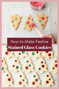 These stained glass sugar #cookies will literally sparkle and shine during the holiday season. Made from a classic sugar cookie dough and a handful of hard candies, they're easy to whip together, too! Christmas Cookies Kids, Christmas Snacks, Xmas Cookies, Xmas Food, Christmas Cooking, Noel Christmas, Thumbprint Cookies, Snowman Cookies, Christmas Cupcakes