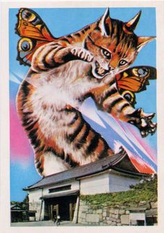 giant butterfly winged kitten attack! run for your lives!