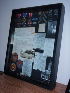 35 best wwii display images on pinterest military shadow box frames and diy shadow box. Black Bedroom Furniture Sets. Home Design Ideas