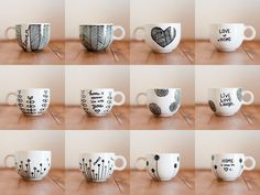 This is a great little diy project, especially with Valentine's day coming up! You can customize a mug, plate, or any other ceramic dish ...