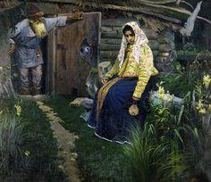 """""""За приворотным зельем"""" Михаил Васильевич Нестеров, 1888"""