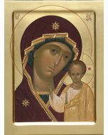 handpainted Icon of Mother of God of Kazan