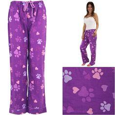 Purple Paws & Hearts Lightweight Lounge Pants