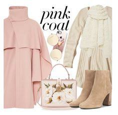 """""""Hey, Girl: Pretty Pink Coats"""" by fattie-zara ❤ liked on Polyvore featuring Hollister Co., Dolce&Gabbana, Yves Saint Laurent, Casetify, Victoria Beckham, I Love Mr. Mittens, Pink and pinkcoats"""