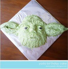Yoda cake for Samuel