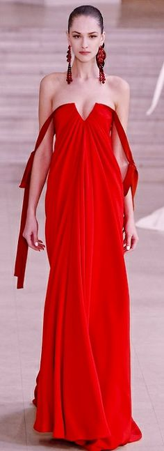 Alexis Mabille Spring 2011 Couture, fantastic black tie look Red Fashion, Couture Fashion, High Fashion, Alexis Mabille, Glamour, Looks Style, Beautiful Gowns, Beautiful Clothes, Couture Dresses