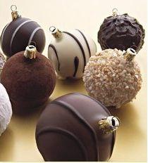 Bolas de chocolate.