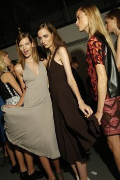 #BetteFranke #backstage at Derek Lam RTW Spring 2013